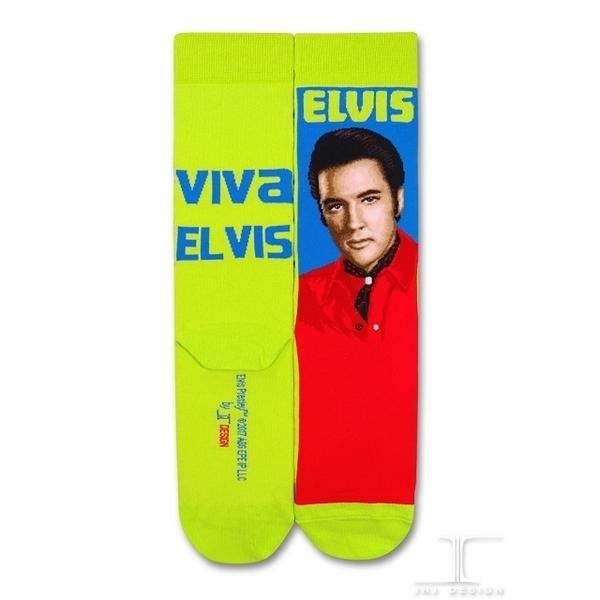 (JHJ DESIGN)[JHJ DESIGN] Rock star Elvis Elvis Long live Viva Elvis stockings / celebrity socks / knit socks