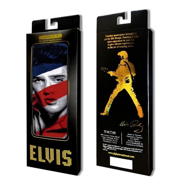 (JHJ DESIGN)[JHJ DESIGN] rock star Elvis American flag GI Blues stockings / celebrity socks / knit socks