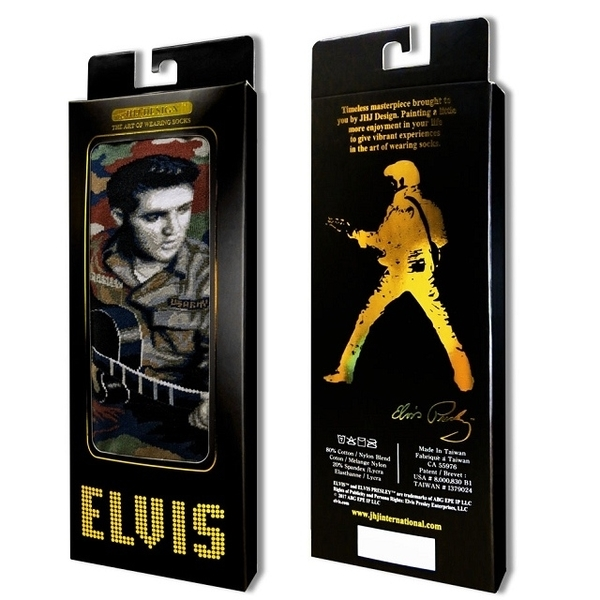 (JHJ DESIGN)[JHJ DESIGN] rock star Elvis Camouflage Elvis Camo Central stockings / celebrity socks / knit socks