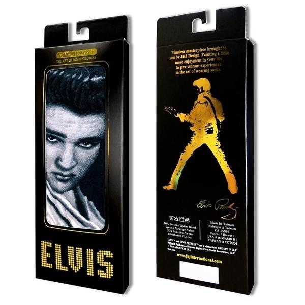 (JHJ DESIGN)[JHJ DESIGN] Rock star Elvis Smokey Eyes smoky white suit stockings / celebrity socks / knit socks