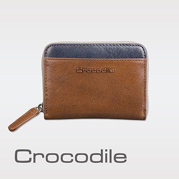 (Crocodile)Crocodile Naturale Collection Easy Lightweight Zipper Coin Purse 0103-08105-02