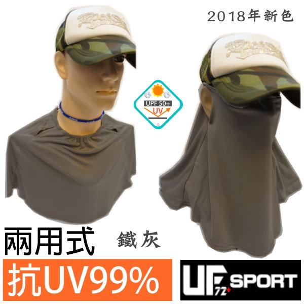 [UF72+] Anti-UV Sunscreen Face Shoulder & Neck Tri-Face Mask UF700 (Iron Gray)