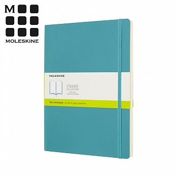 (MOLESKINE)MOLESKINE Spring/Summer Classic Soft Leather Notebook (L Type) - Coral Blue Blank
