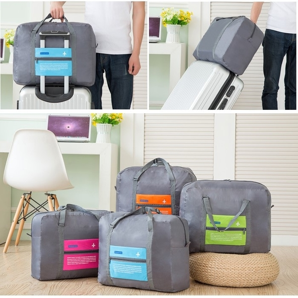 Korean version of the large capacity travel admission package / folding bag / waterproof nylon lightweight portable
