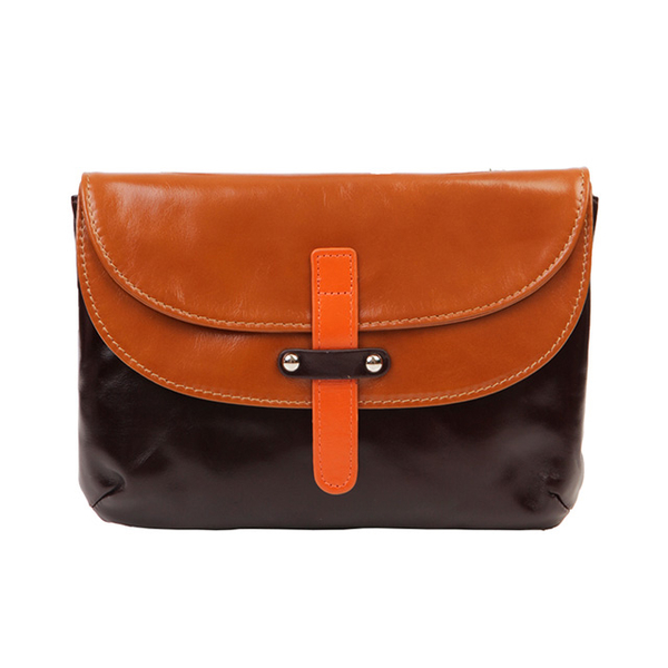 "(AmoreDaniel)Amore Double Fairy 7"" Pouch Camel/Brown/Orange"