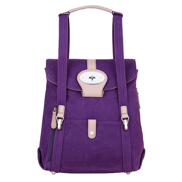 "(AmoreDaniel)Amore Beck 15"" 3-Way Backpacker Purple"