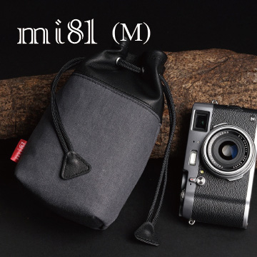 (mi81)Mi81 sheepskin camera bag - mixed material (in)