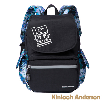 (Kinloch Anderson)【Golden Anderson】 colorful sky printing reflective clamshell backpack - black (KA179002BKF)
