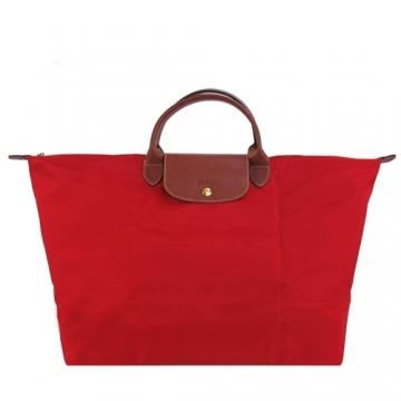 (LONGCHAMP)LONGCHAMP LE PLIAGE Short handle bag (large / madder red)