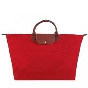 LONGCHAMP ซีรีส์ Le Pliage NEO กระเป๋าถือหูสั้น / (ขนาดใหญ่ / สีแดง)