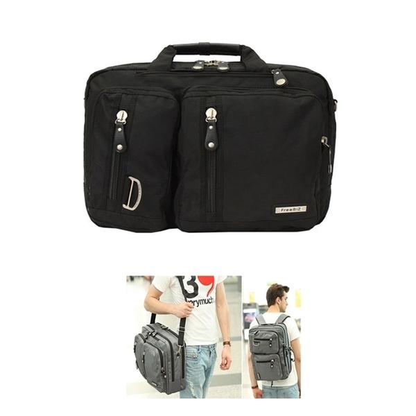 FREEBIZ FB2103BK three-use portable side backpack 17.3吋 black