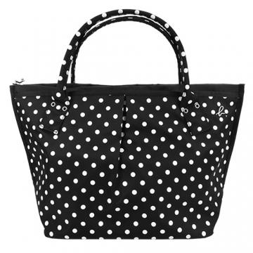 (agnes b)Agnes b. Metal b little dumpling bag (large / black and white)
