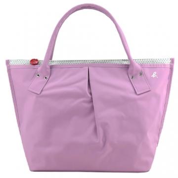 (agnes b)Agnes b. Cursive b little inside dumpling bag (large / pink)