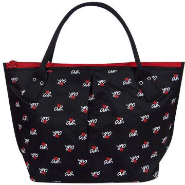 (agnes b.)agnes b. ab heart pop style dumplings bag (big / black)