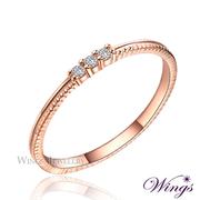 (WINGS) แหวนเคลือบโรสโกลด์ หรูหรางดงาม