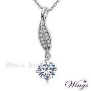 (WINGS)Wings Ye Yue Ba Xin Ba Jian Imports Cubic Zirconia White Plated Gold Necklace