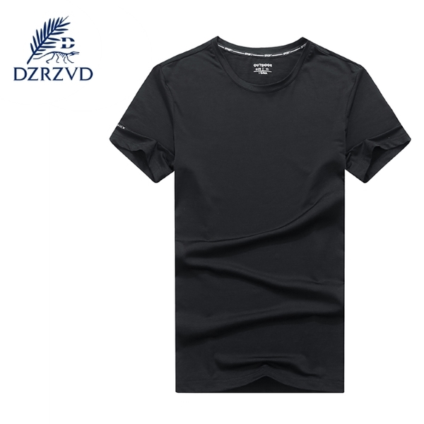 (DZRZVD)DZRZVD Rhododendron [81083 men's quick-drying T-shirt] [black]