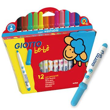 (【義大利GIOTTO】可洗式寶寶彩色筆(12色))[Italian] GIOTTO baby washable color pen (12 color)