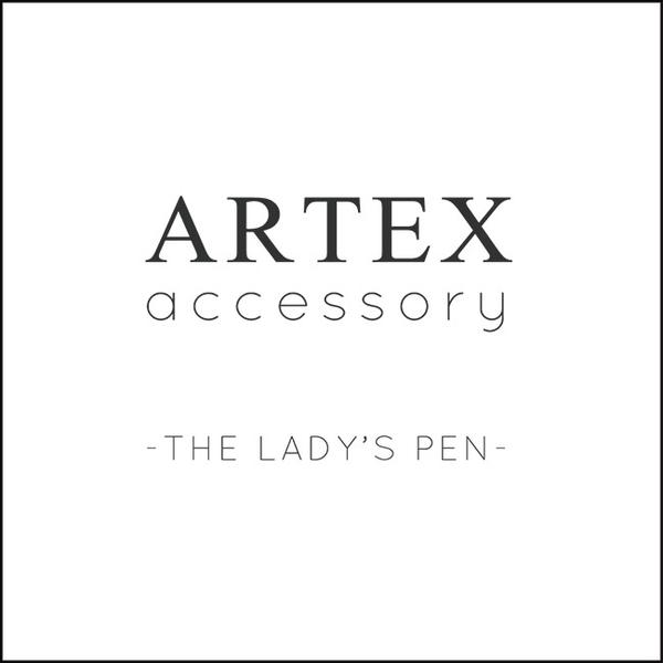 ARTEX accessory telescopic silver pen light blue necklace