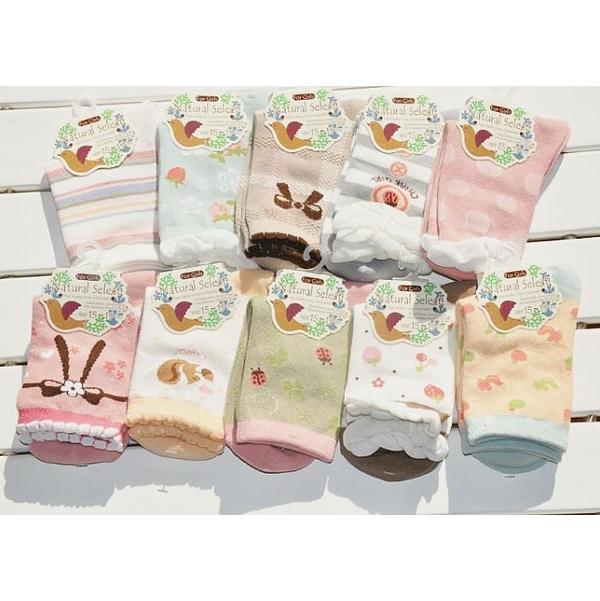 "Sweet ""Elegant Bow"" Cute Girl Socks ((10 pairs))"