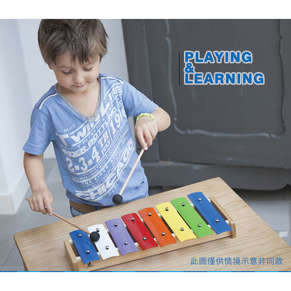 (New Classic Toys)Netherlands] [New Classic Toys Rainbow children 12 sounds knock xylophone 10218