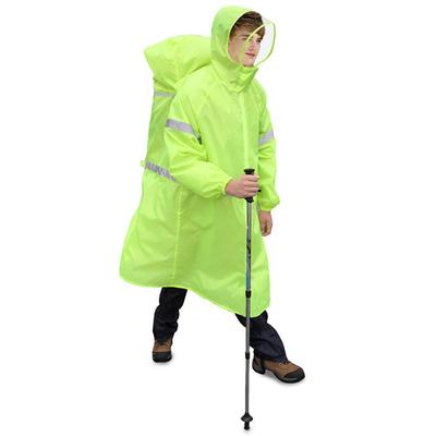 PUSH! Outdoor Leisure Products Raincoats Mountaineering Raincoat Backpack Raincoat Siamese Raincoat P104 Green S