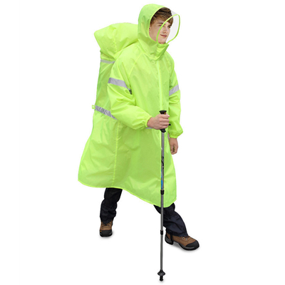 PUSH! Outdoor Leisure Products Raincoats Mountaineering Raincoat Backpack Raincoat Siamese Raincoat P104-2 Green XL