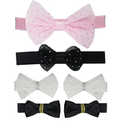 (luvable friends)U.S. luvable friends Infants Hairbands and Hair Clips 6pcs_Glitter Bowknot (LF51020)