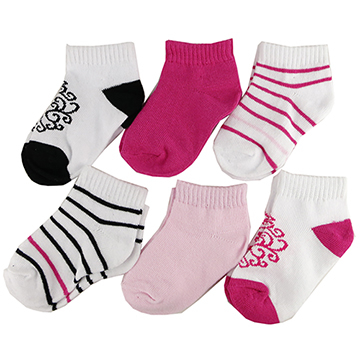 (luvable friends)United States luvable friends Baby socks/Baby socks/Newborn socks/Knee socks 6 into the group_Pink Totem (LF90442)