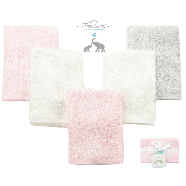 (luvable friends)U.S. luvable friends infant bamboo fiber cotton square scarf 5 into the group _ pink group (LF71021)