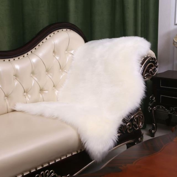 European imitation wool whole sheepskin carpet bedroom sofa plush mat 65*102cm