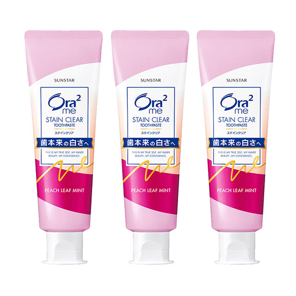 Ora2 me whitening flawless toothpaste 140gx3 into (peach mint)