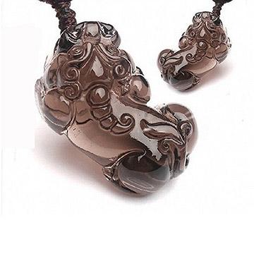 (十相自在)Ten phases at ease - ice kind obsidian 貔 貅 pendant