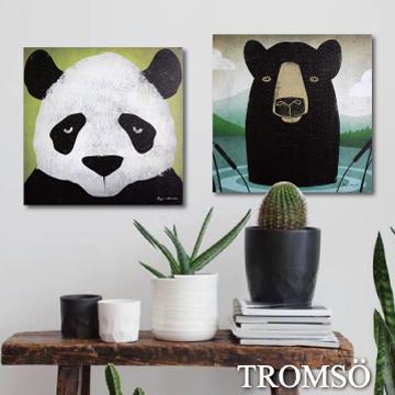 (TROMSO)TROMSO Fashion Frameless / Black Panda Bear