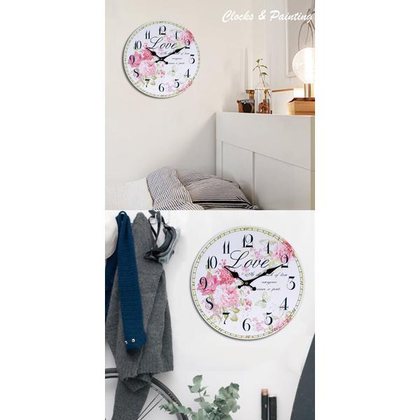 (TROMSO)TROMSO Frameless Clock - Flower Fly Butterfly (Circular)