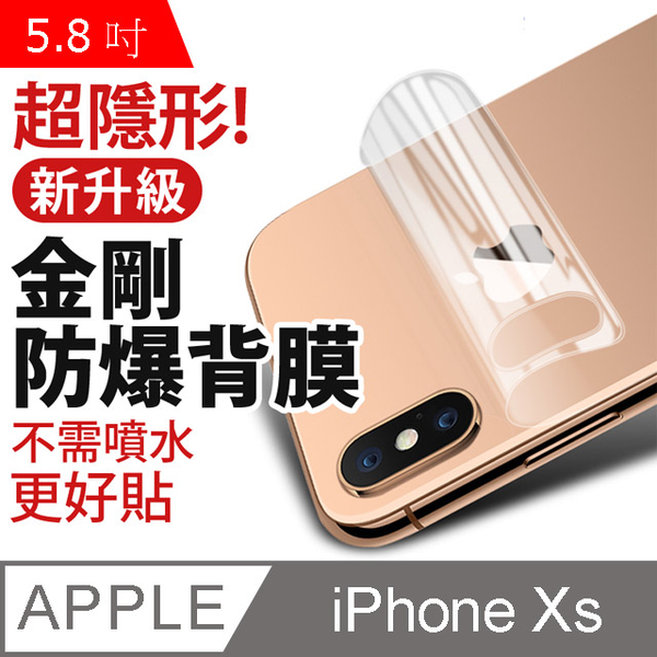 Apple iPhone Xs (5.8吋) Gold Steel Hydrogel Soft Film