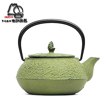 Japan Rock Cast Iron Southern Iron Urgent Song Ye 5 light green cast iron pot -0.65L (12425)