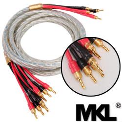 MKL the 4 m Bi-Wire banana head - banana fever speaker wire (N10)