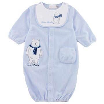 (LOVEWORLD)Children's wear polar bear series dual-use baby clothes (water blue)