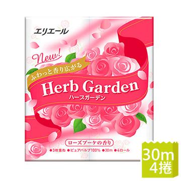 (elleair)Japanese king elleair heart fragrant garden three rolls of toilet paper _ luxury rose fragrance (4 volumes / bag)
