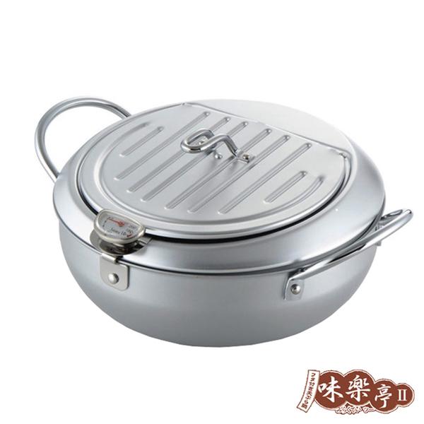 (味樂亭)[味?亭] Japan imported iron frying pan (with cover / thermometer) 24CM