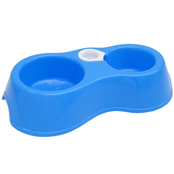 Yueyang environmental protection PP5 material small pet cat dog dog bowl double bowl pet bowl with automatic water supply (26515)
