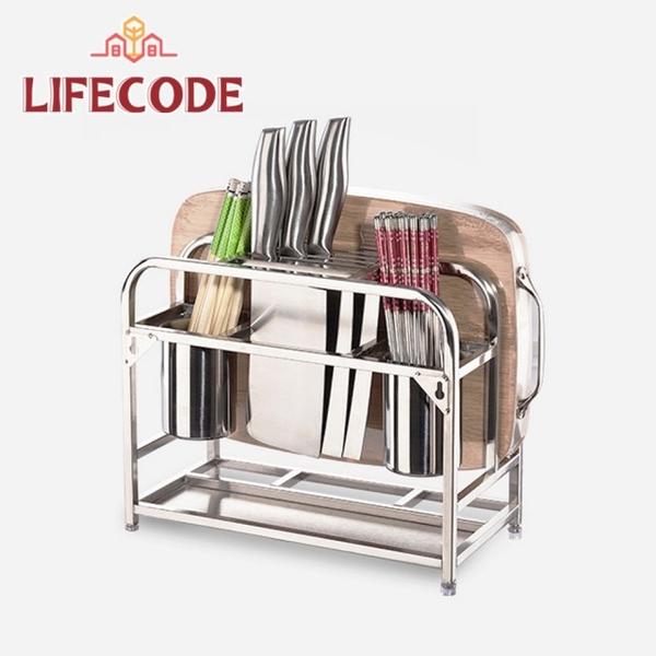 (LIFECODE)LIFECODE Storage King - Multi-purpose stainless steel cutting board