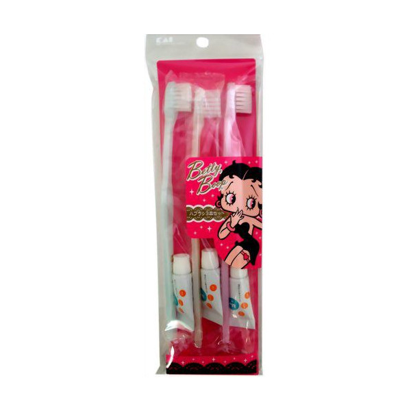 (Betty Boop)Toothbrush toothpaste group - 3 (2 in) KK-1777