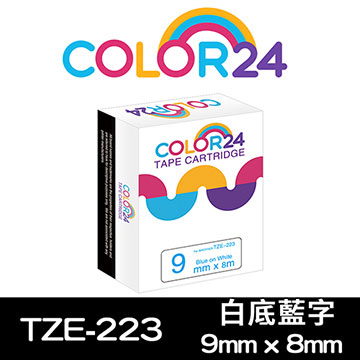(Color24)[Color24] for Brother TZ-223 / TZe-223 General Series White Label Blue Label (9mm Width)