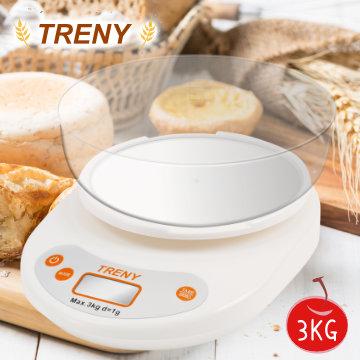 (TRENY)TRENY Baking Cuisine Scale (Large Tray) 3KG