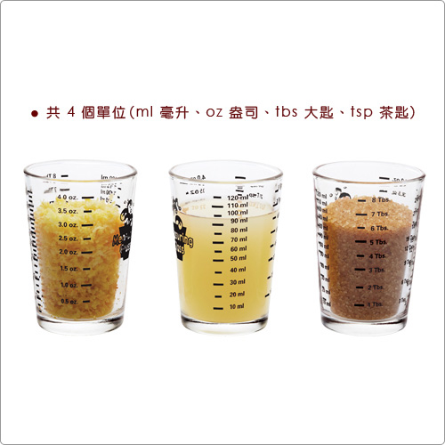 (KitchenCraft)KitchenCraft Four-Scale Glass Measuring Cup (120ml)