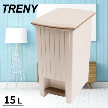 (TRENY)[TRENY] rustic pedal trash 15L