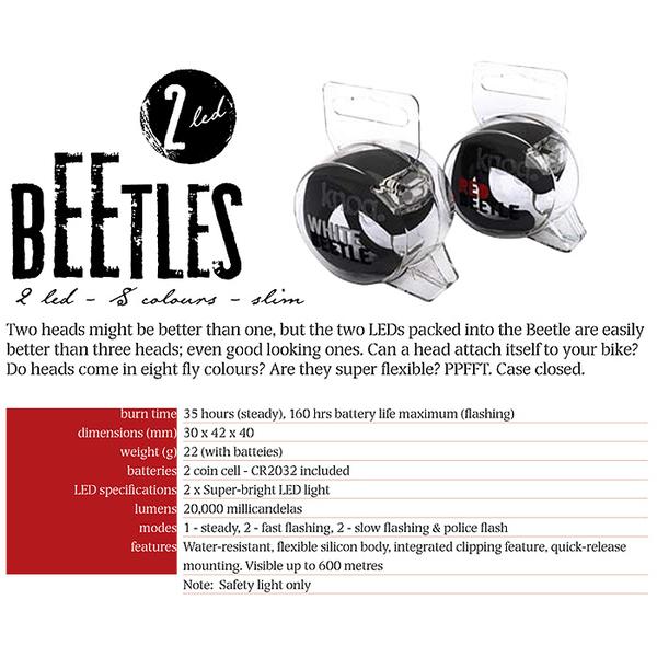 Knog [2] BEETLE beetles multifunctional waterproof silicone white LED lamp (Pink)