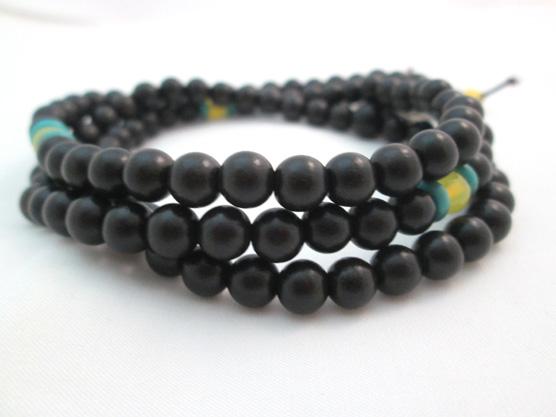 [Home] authentic old edge Ebony 108 bracelets beads (6mm)